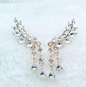 Angel Wings Rhinestone Earrings